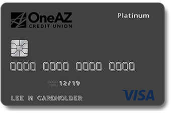 Image of OneAZ Visa Platinum credit card