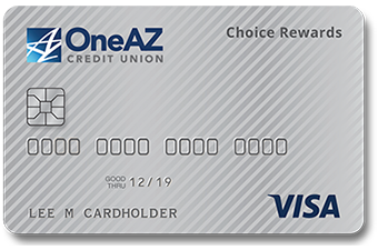 Image of OneAZ Credit Union Visa Choice Rewards credit card