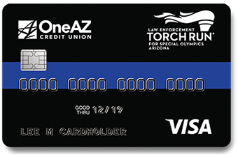 Image of OneAZ Credit Union Visa LETR credit card