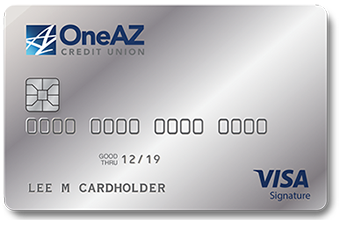 Image of OneAZ Credit Union Visa Signature credit card