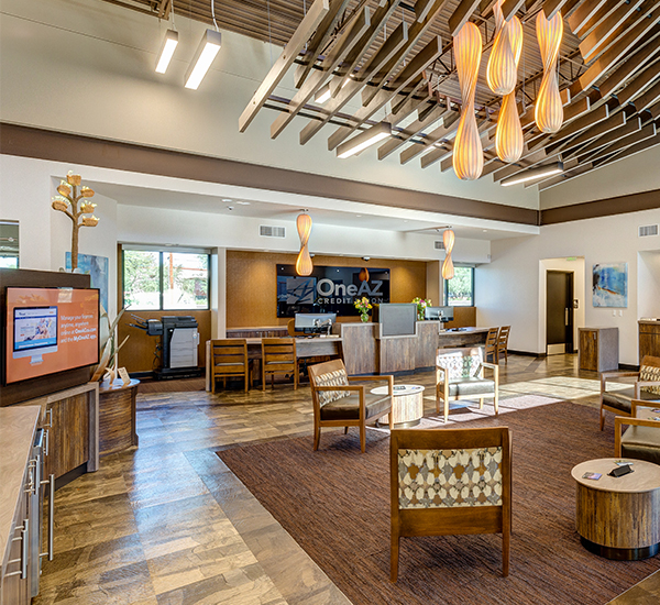 OneAZ Credit Union Oro Valley branch - interior 1