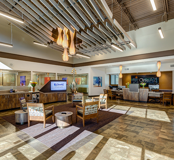 OneAZ Credit Union Oro Valley branch - interior 2