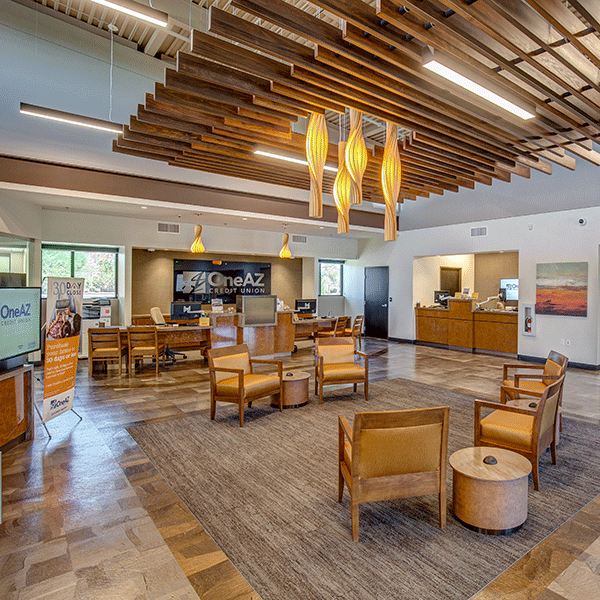 OneAZ Credit Union Happy Valley branch - interior 1
