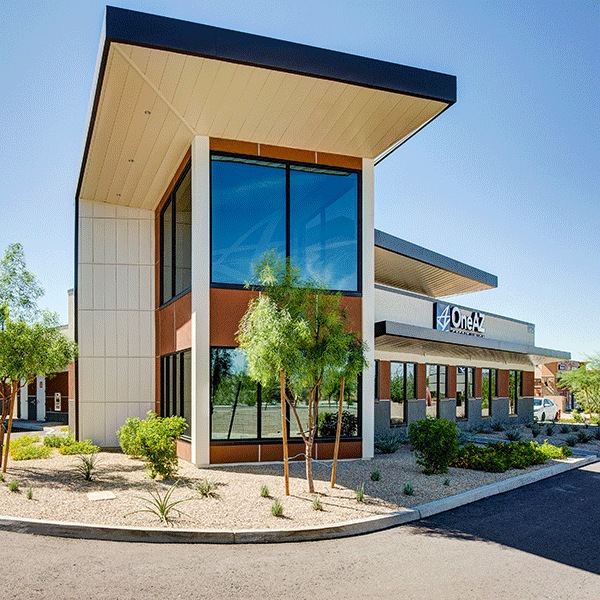 OneAZ Credit Union Happy Valley branch - side view