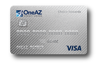 VISA Choice Rewards credit card from OneAZ Credit Union
