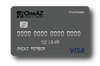 VISA Platinum credit card from OneAZ Credit Union