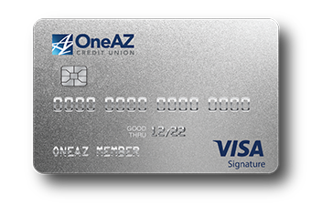 VISA Signature credit card from OneAZ Credit Union