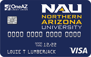 VISA NAU Affinity credit card from OneAZ Credit Union
