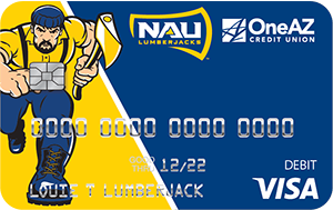 VISA NAU debit card from OneAZ Credit Union