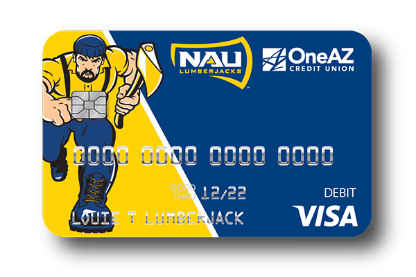Visa® NAU Lumberjacks Debit Card from OneAZ Credit Union