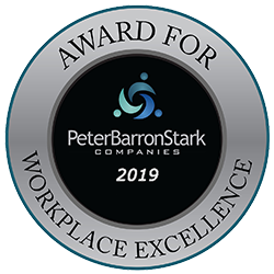 Award for Workplace Excellence - 2019 - PeterBarronStark Companies